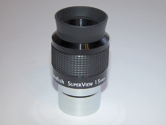 "15mm SuperView 68° 1.25"" eyepiece"